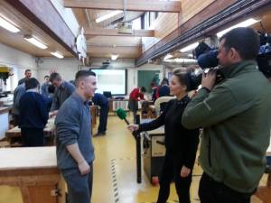 Jamie Coyne Being Interviewed By RTE - Discover Woodwork